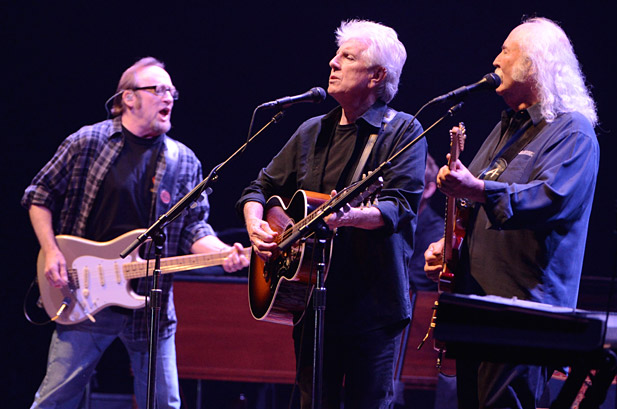 Crosby, Stills & Nash perform at the Nokia Theatre L.A. Live on October 3 (Getty Images)