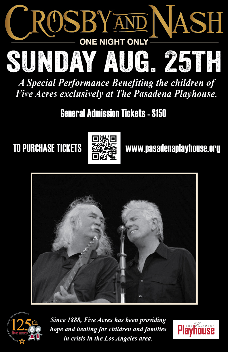 Crosby and Nash Sunday Aug 25th