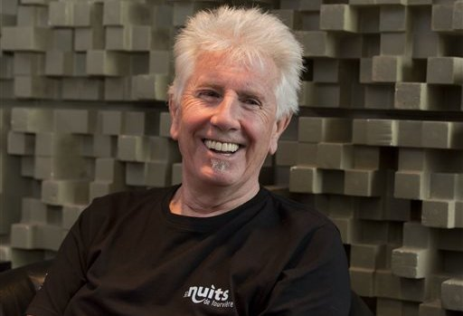 "Singer Graham Nash is interviewed during a break in the recording session for the audio book version of his ""Wild Tales: A Rock & Roll Life"" autobiography, in New York, Thursday, July 25, 2013. (AP Photo/Richard Drew) — AP"